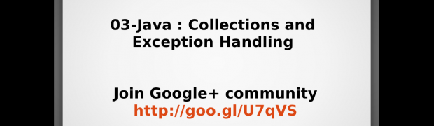 Webinar - Java Collections and  Exception Handling